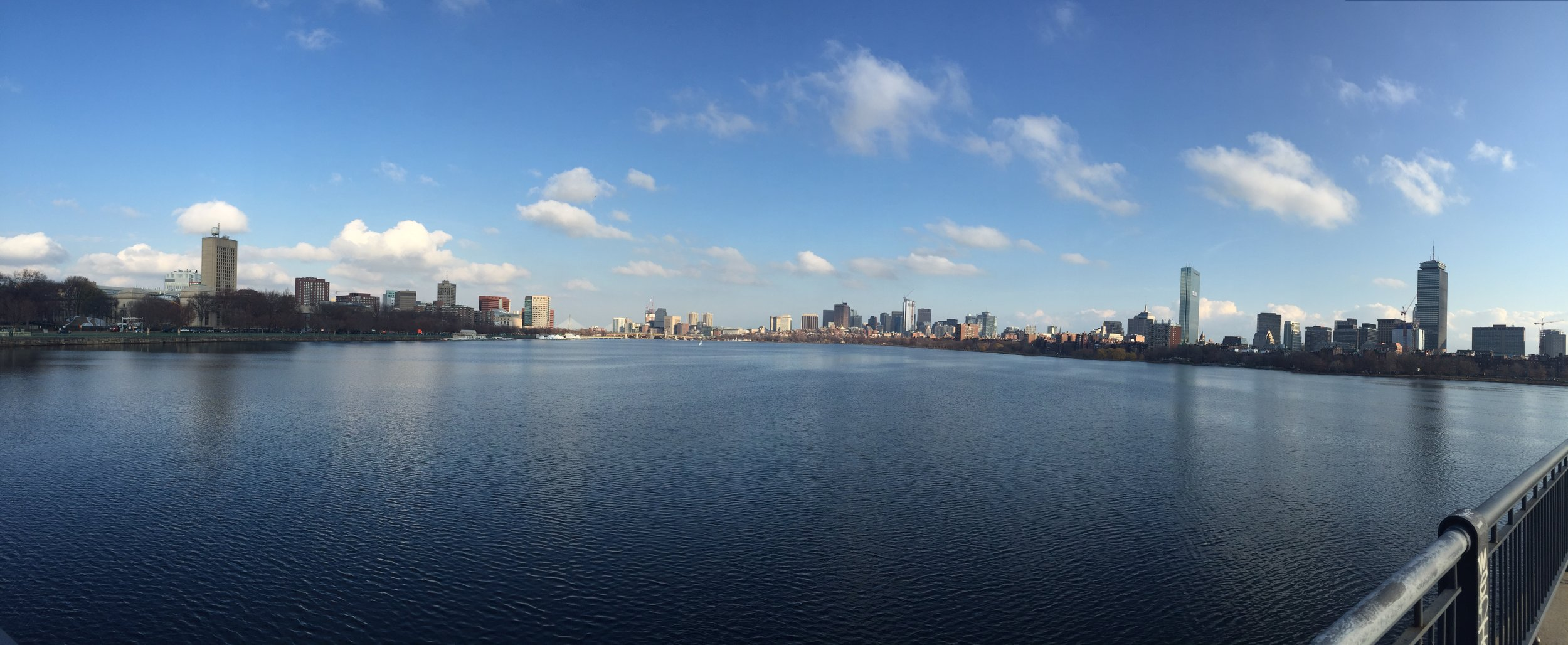 City scape of Boston, MA in December 2015