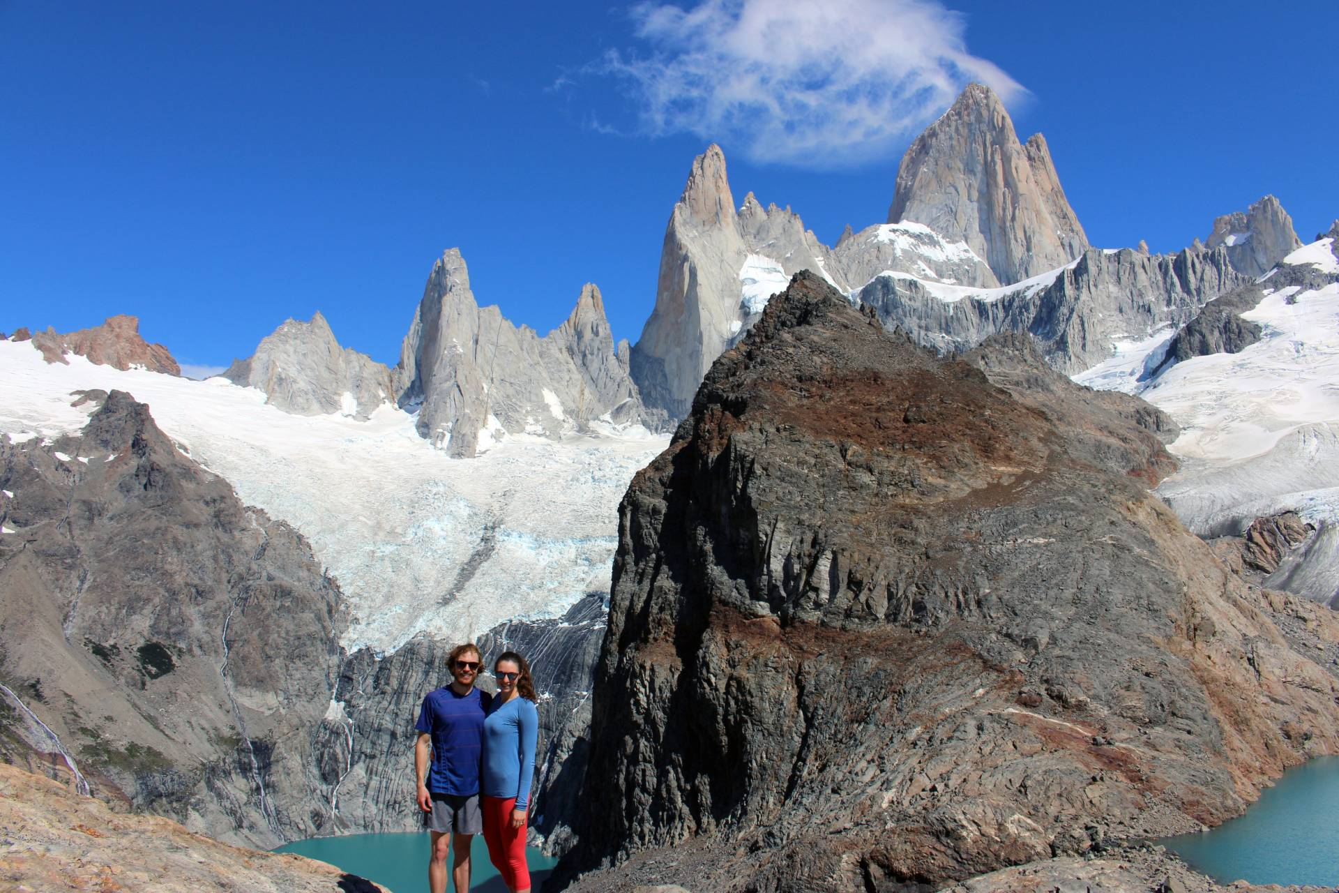 The top of Mt. Fitz Roy in Argentina, February 2016