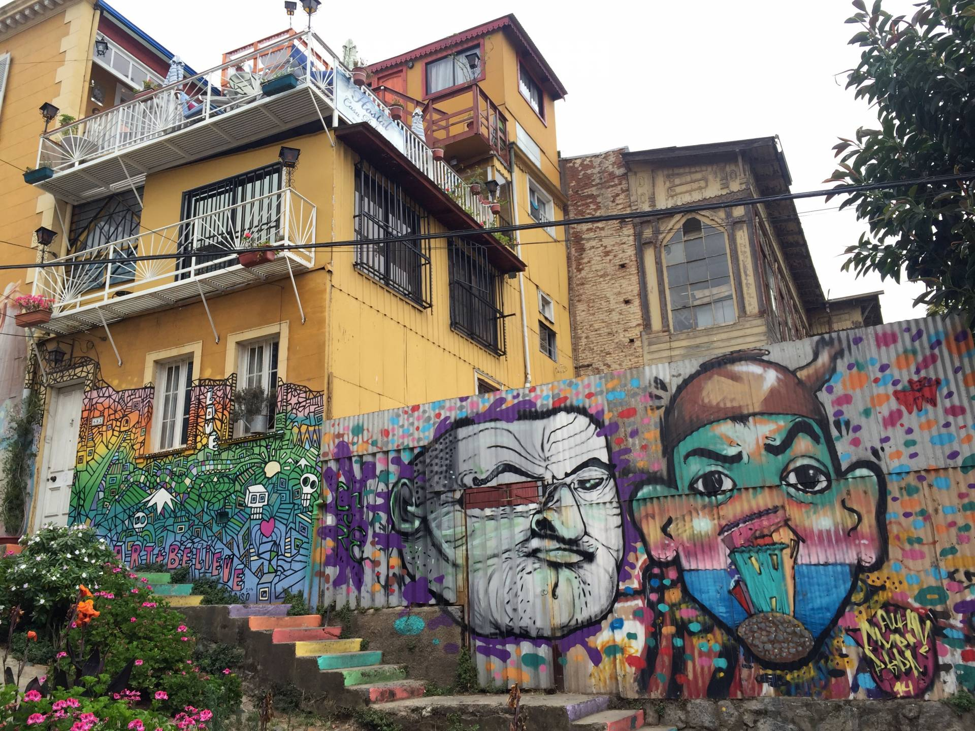 Street art in Valparaíso, Chile