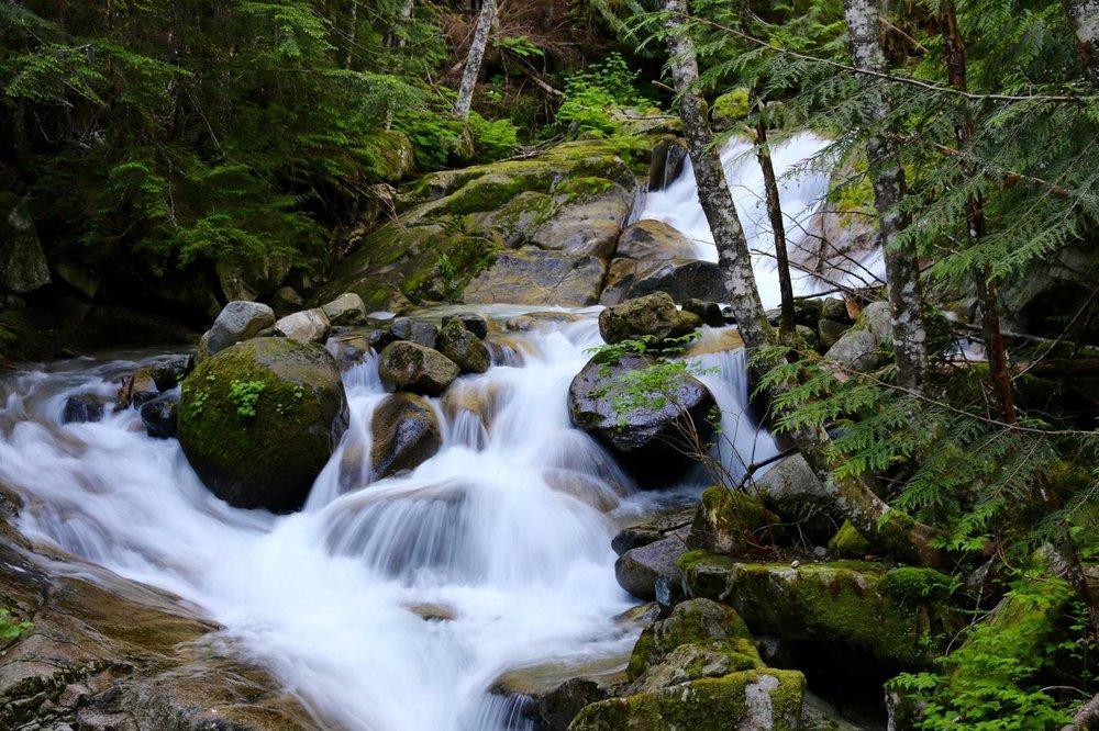 waterfall on Annette Lake Trail, Washington