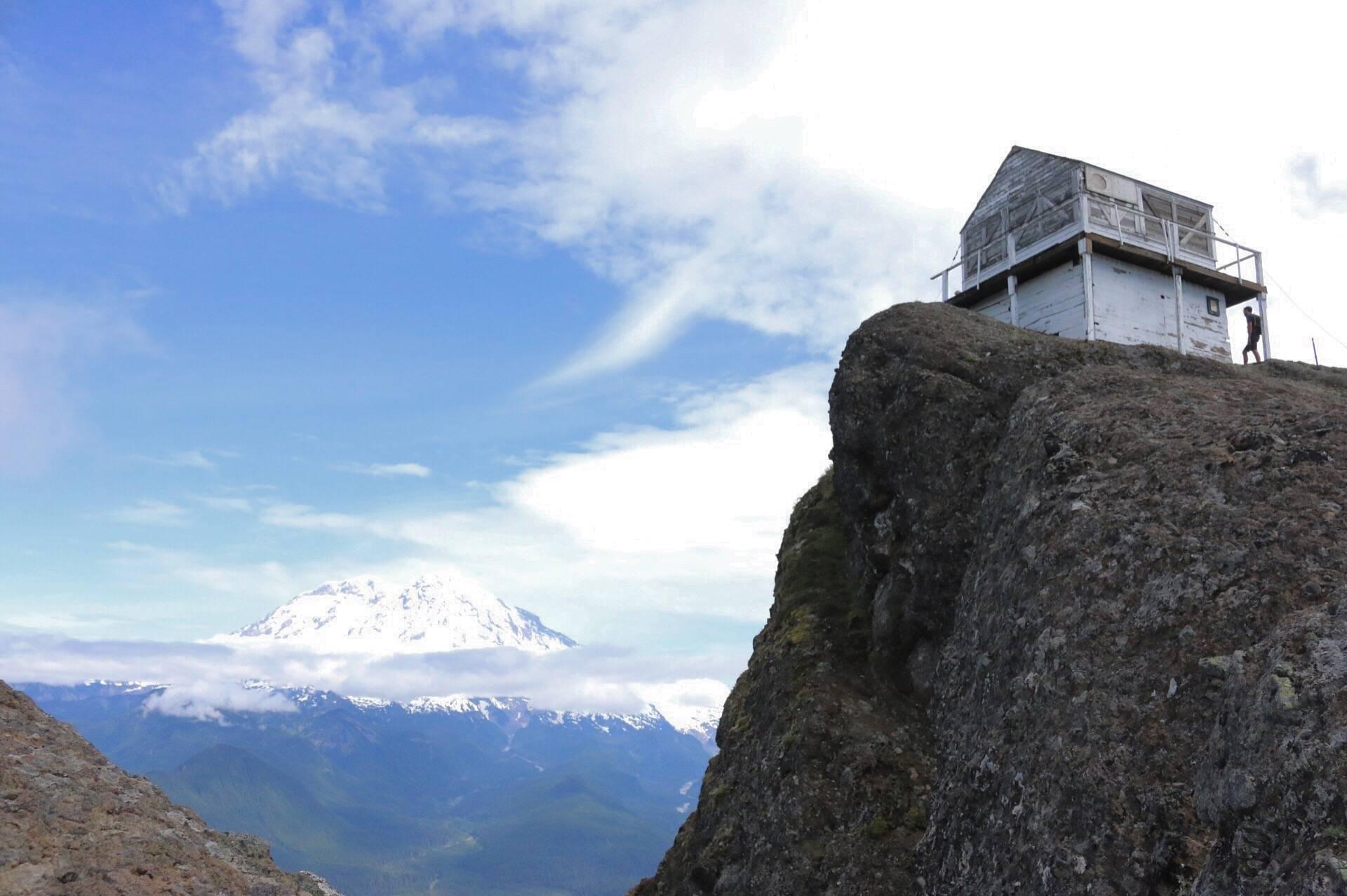 Top of High Rock Lookout near Mt. Rainer, WA