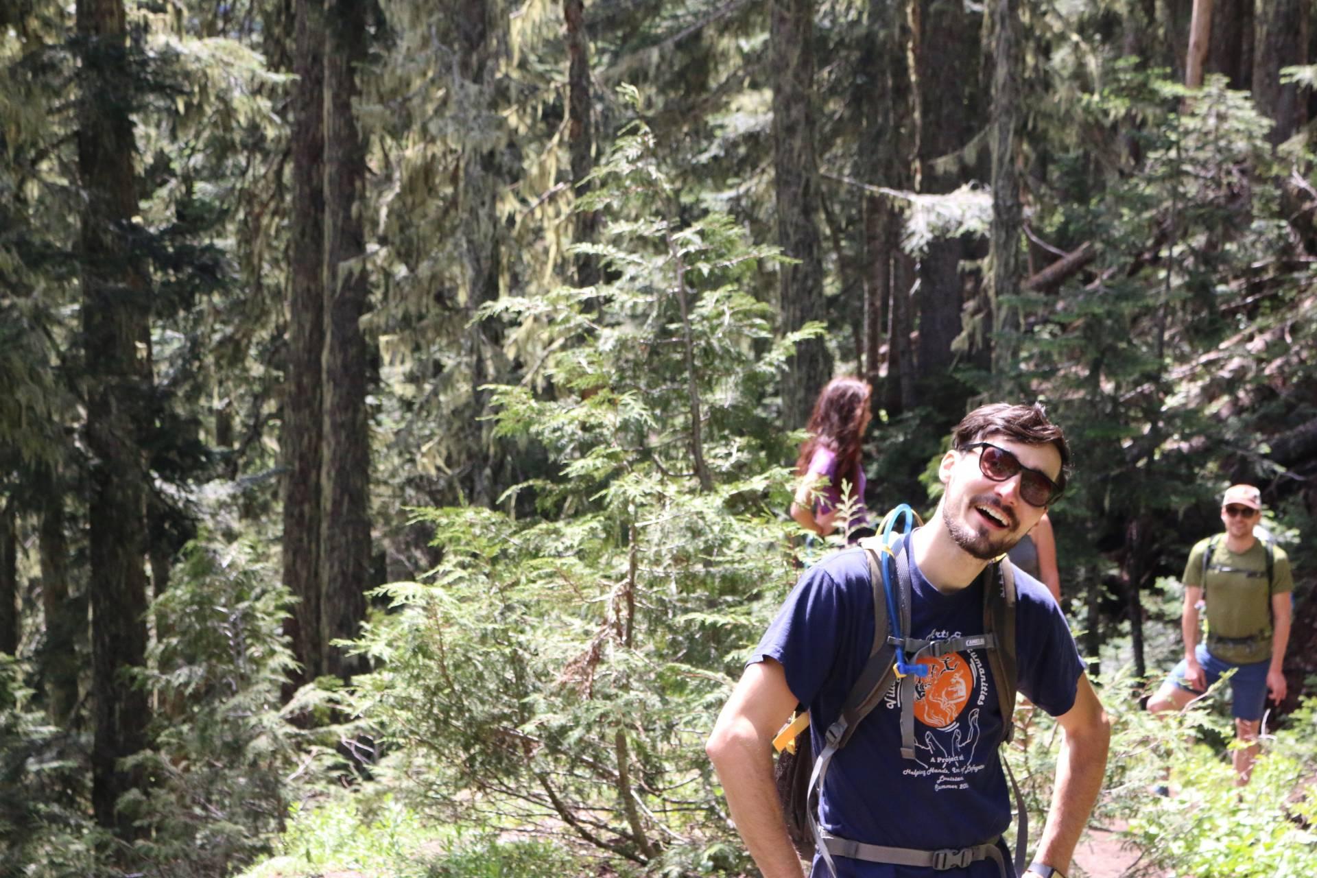 Hiking to High Rock Lookout Hike, Mt. Rainer WA