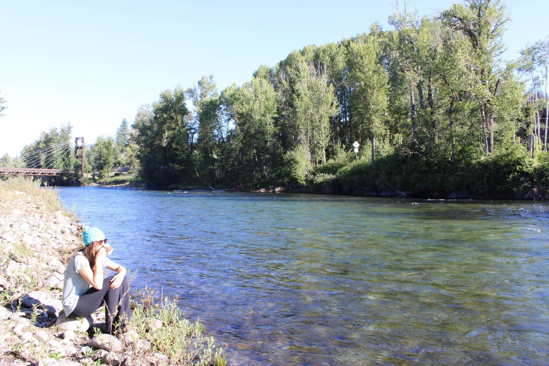 Our room at the Methow River Lodge opened up to this river. A wonderful place to sip my morning coffee.