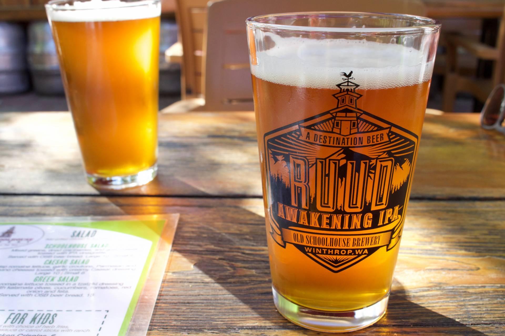 RUUD Awakening IPA at Old Schoolhouse Brewery in Winthrop WA