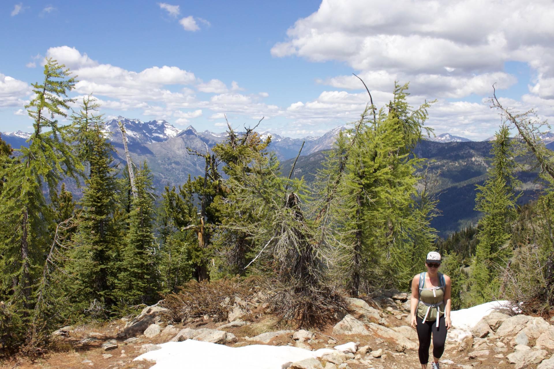 Hiking up to Goat Peak Lookout in Mazama, WA
