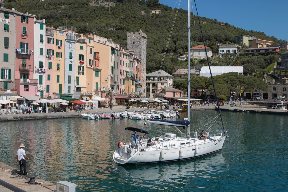 Harbor in Porto Venere Italy