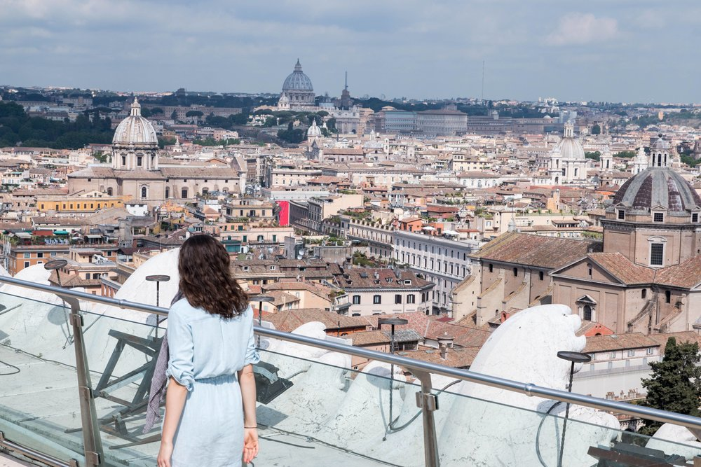 View of Rome from Monumento Nazionale a Vittorio Emanuele II
