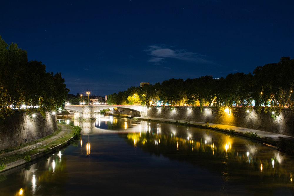 Night Photography from the Tiber River
