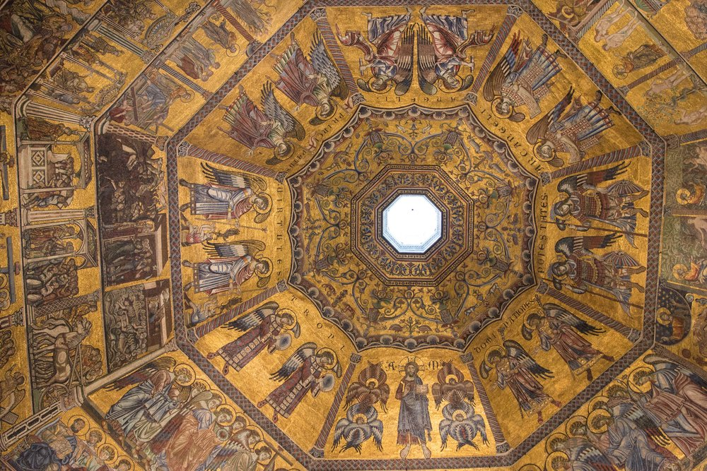 Ceiling of the Baptistery in Florence, Italy