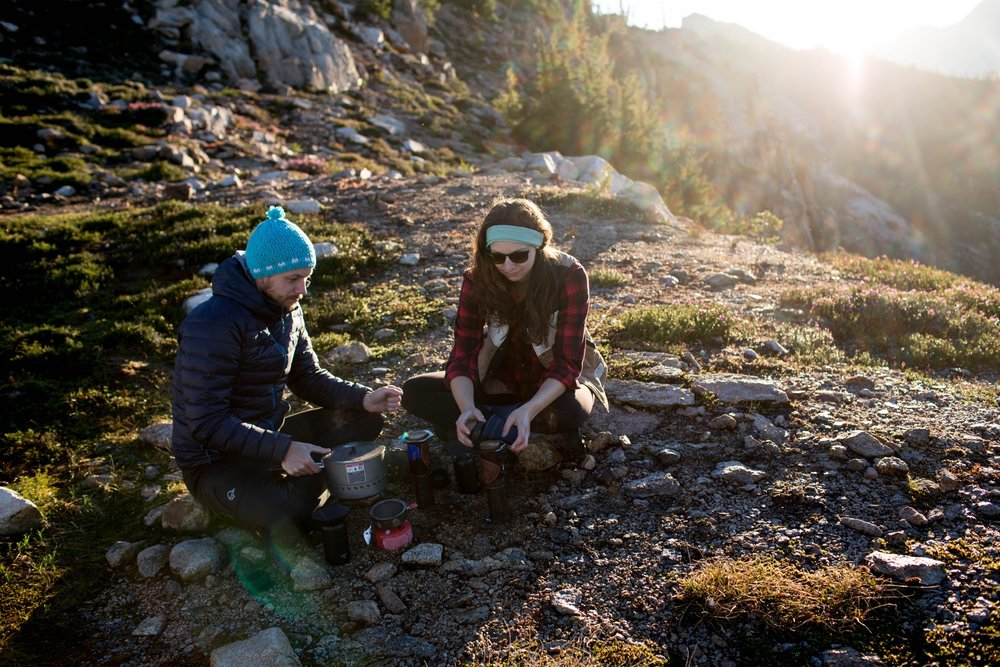 We are huge coffee enthusiasts and always bring a coffee travel kit with us wherever we go! Even when we're on a mountain top.