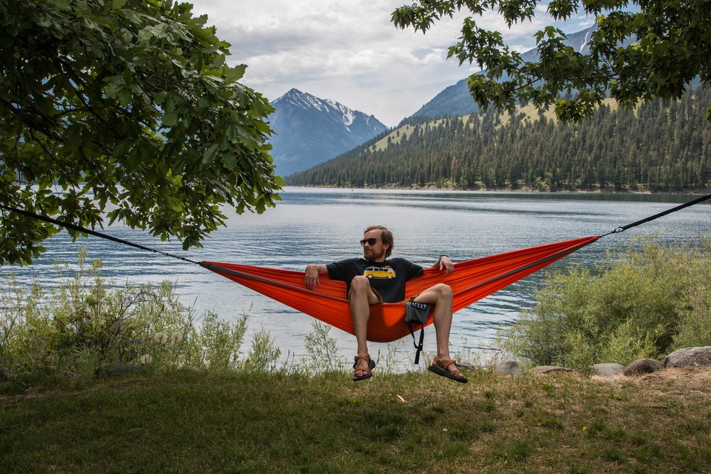 ENO hammocks provide an ultimate chillax experience.
