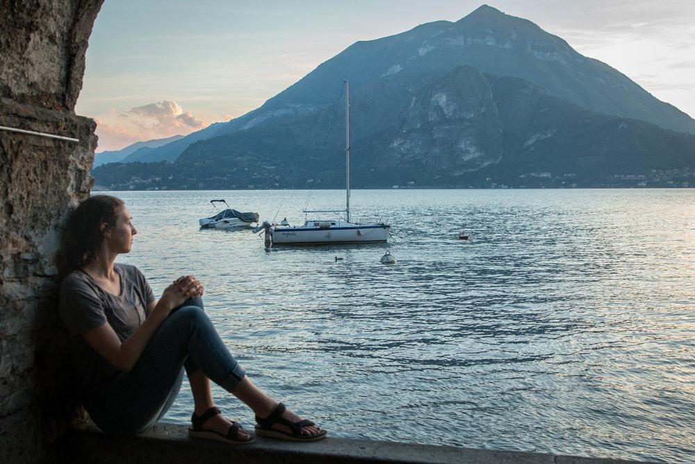 Lake Como at sunset. May 2017