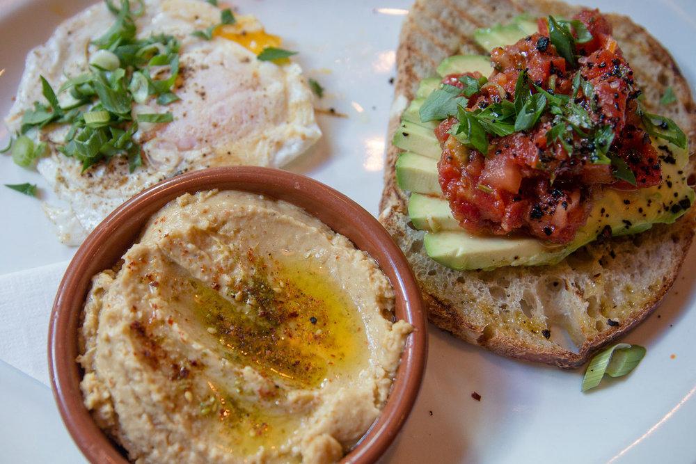Breakfast plate at Medina's Cafe in Vancouver, Canada November 2017