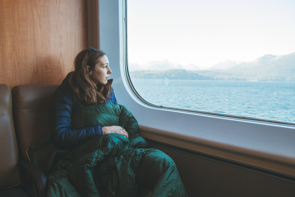 Ferry ride from Horeshoe Bay to Langdale. We enjoyed the view from inside and still needed to bundle up!  Photo by  Laura Hughes