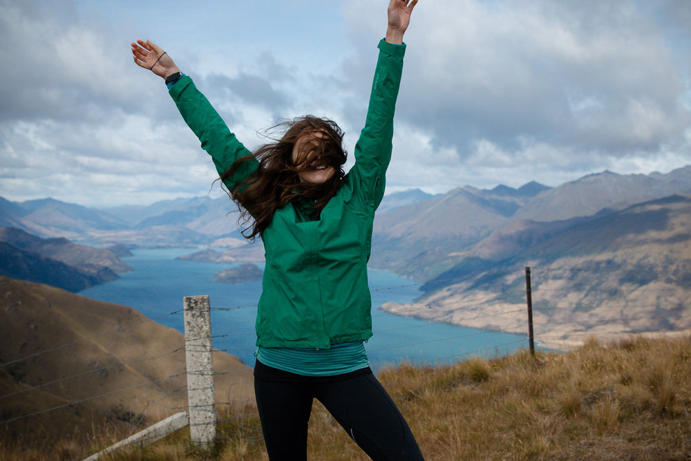 Feeling wind and freedom at the top of Isthmus Peak.