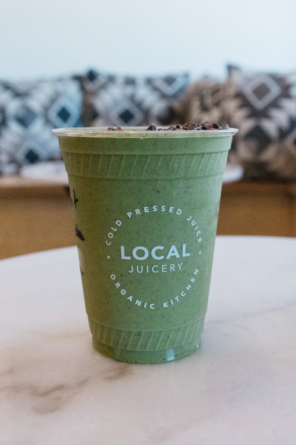 Matcha mint smoothie at Local Juicery