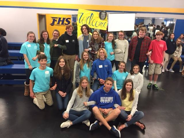 IB Siblings - upper school students welcome their 8th grade brothers and sisters to the IB family.