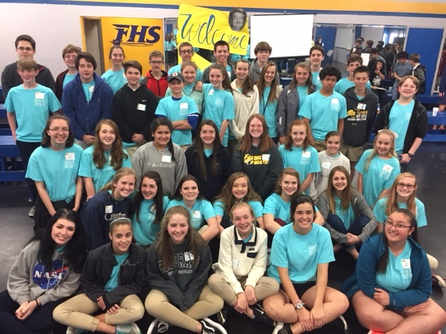 Just-tapped 8th graders tour the High School and get their first glimpse of IB.  The latest Pre-IB freshman class includes students from FMS, Gulf Shores, Elberta, Summerdale and Foley.