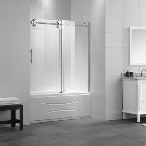glass showers construction quality bathtub enclosures doors shower semi framed ace
