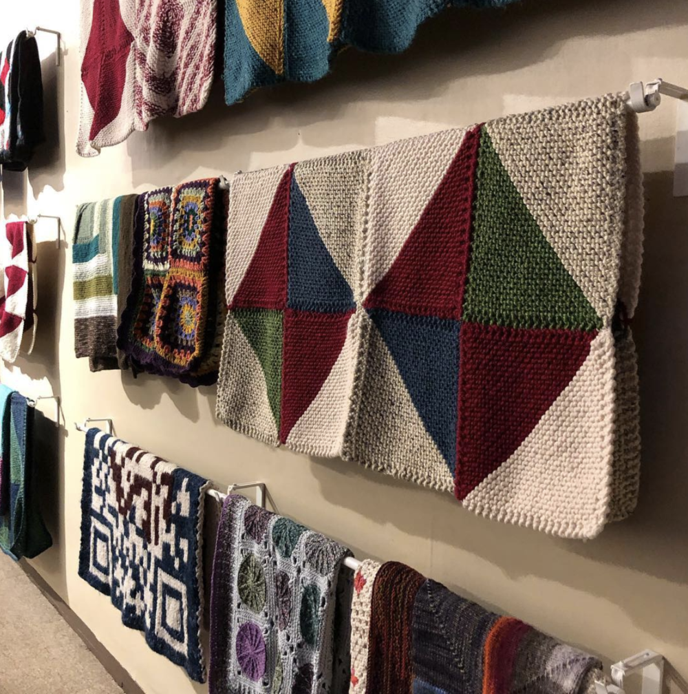 A view of the Welcome Blanket pop up at Fuller Craft