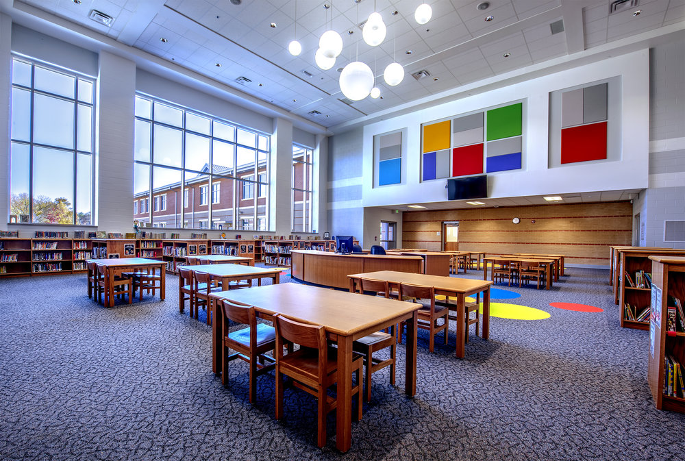 Middle Valley Elementary School   Completed in 2016, this two story, 150,000 sf facility was constructed behind the 1920's era Ganns Elementary School it replaced. The facility is designed for 950 students and includes Daycare, Pre-K, Kindergarten and grades 1-5. Special care was taken to centralize shared spaces, minimizing travel distances and open the interior to exterior views.