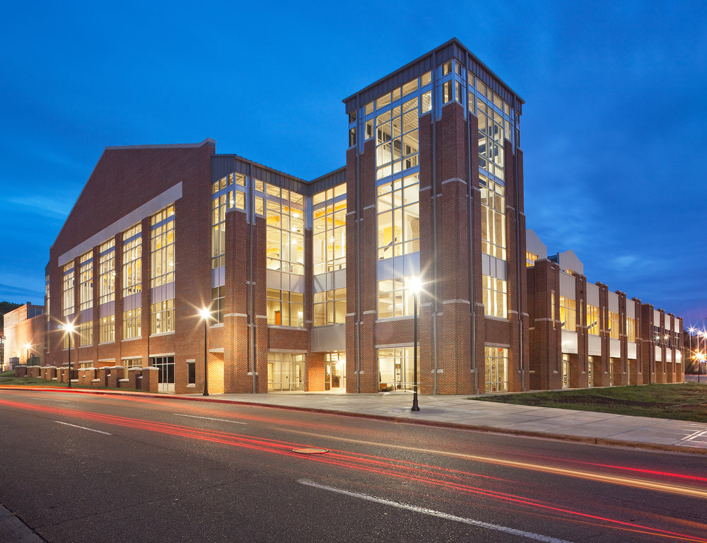 UTC ARC   Built in two phases, this three story structure provides a state of the art fitness center for the general student population. The 115,000 sf facility offers a wide range of water activities: 5 lane lap pool, 20 foot high water slide and plunge pool, a tube and kayak lazy river, a kayak plunge pool, water volley ball and basketball, zero entry pool for accessibility and 20 person hot tub.