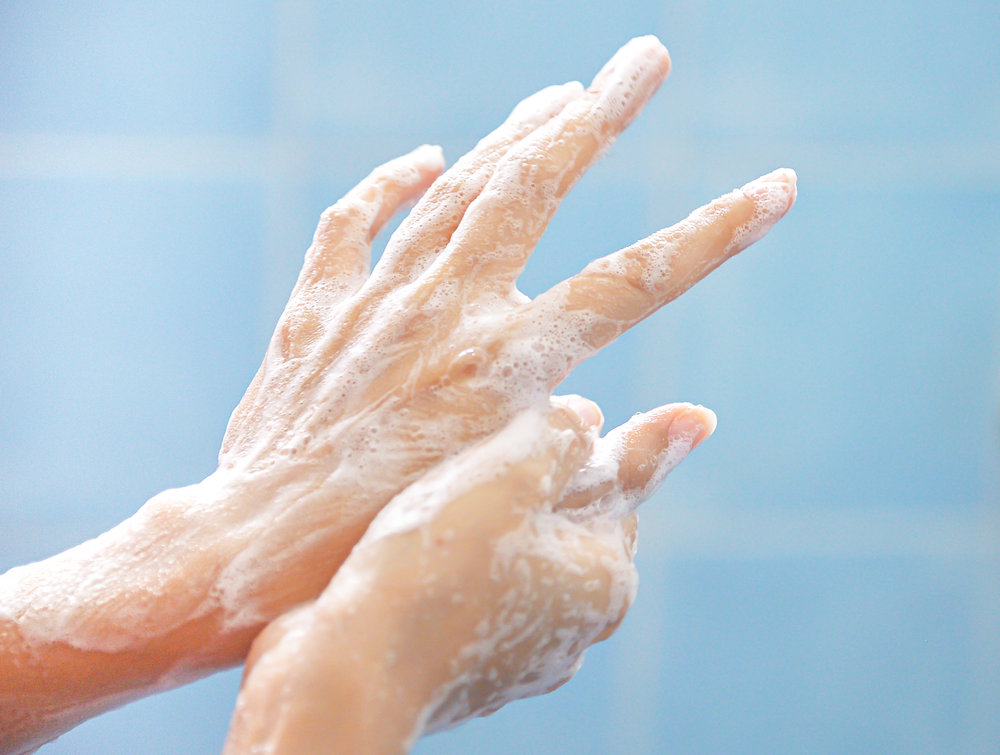 Scrub your hands before you turn on the tap. - I know the texture can be weird, but lathering your hands before turning on the sink can save a lot of water! People wash their hands a lot during the day. By waiting to turn on the tap until after scrubbing for a few seconds you can save about 10 gallons of water. It's one of the reasons most public bathrooms have automatic sinks.