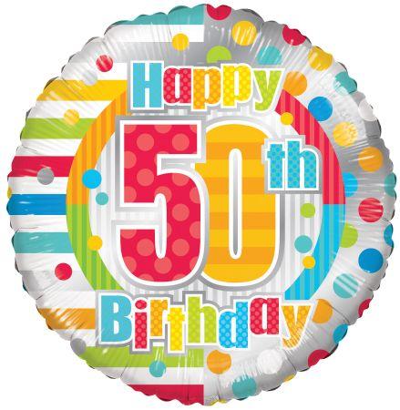 50th Birthday Mylar Balloon