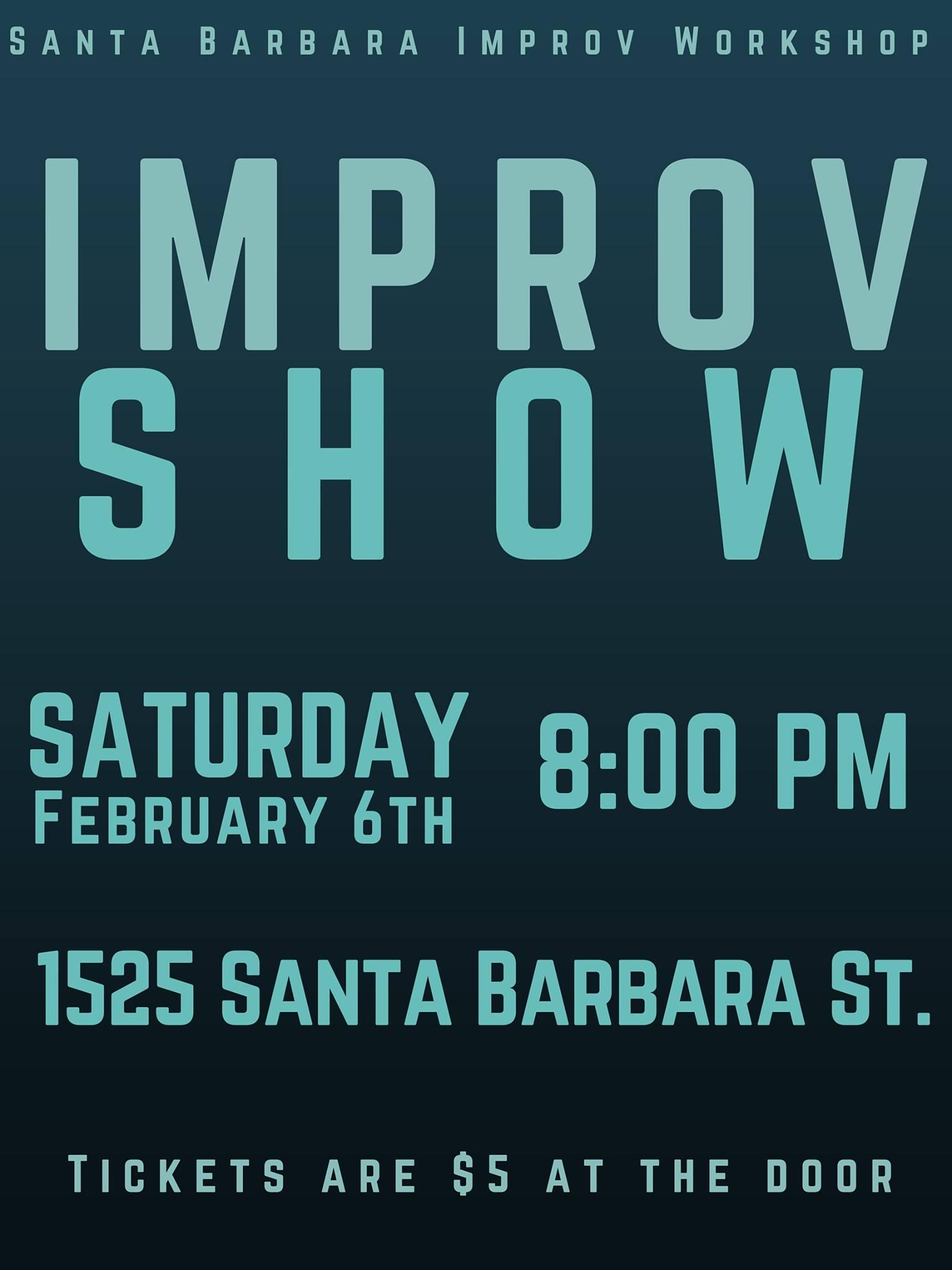 Improv Show Poster