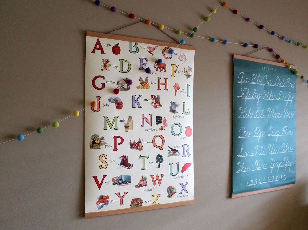 Hanging poster frames .