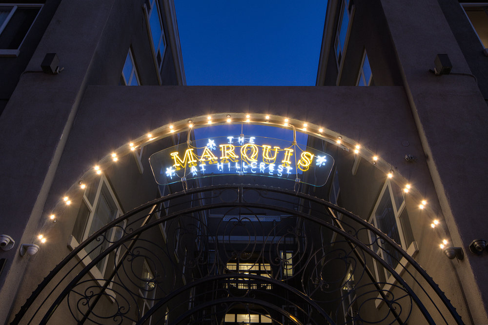 Our new Neon Sign: The Marquis at Hillcrest