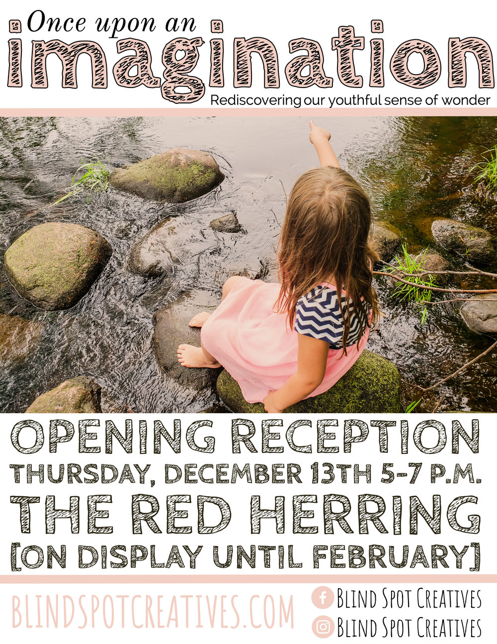 Once Upon an Imagination - Alyssa Johnson - Blind Spot Creatives - Red Herring Lounge - Opening Reception - Photography