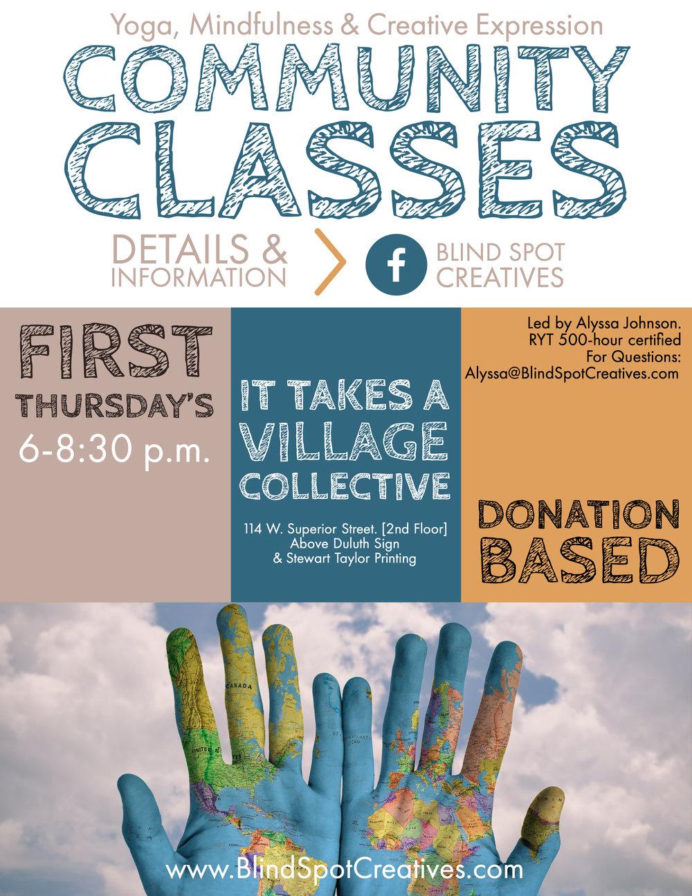 First Thursday Yoga, Mindfulness & Yoga Class - Blind Spot Wellness - Duluth, Minnesota - Alyssa Johnson