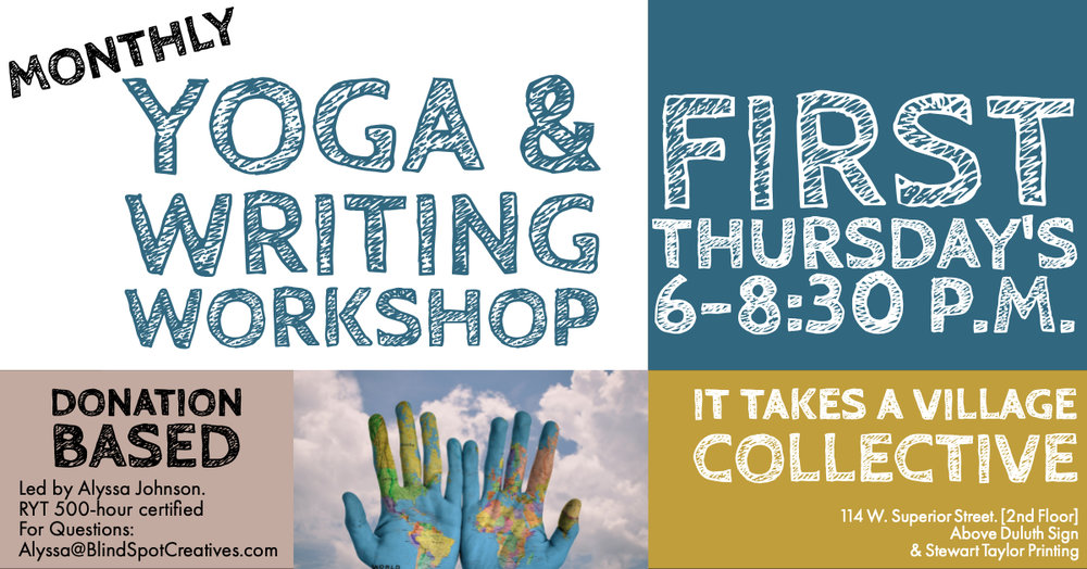 © Blind Spot Creatives - Duluth, Minnesota - Writing Workshop - It Takes a Village Collective