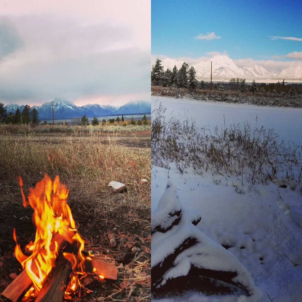 Tetons Campsite Day 2 vs Day 3