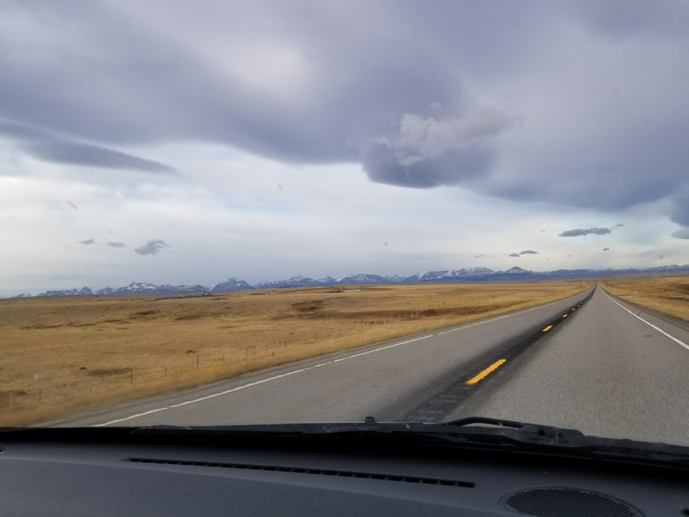 Driving in big sky country- Montana