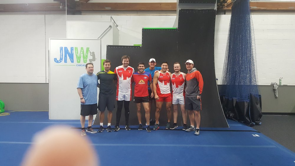 Chicago Swans AFL - Ninja gym pre-season training