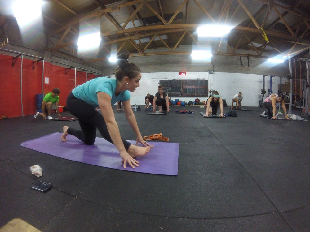 Mobility/Yoga class at Crossfit Armidale