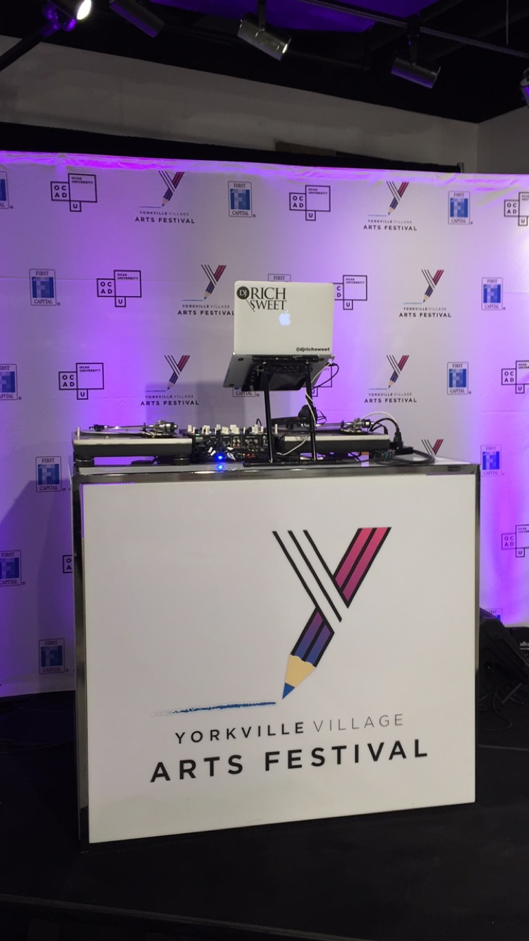 DJ Rich Sweet at The Yorkville Village Arts Festival Opening Gala