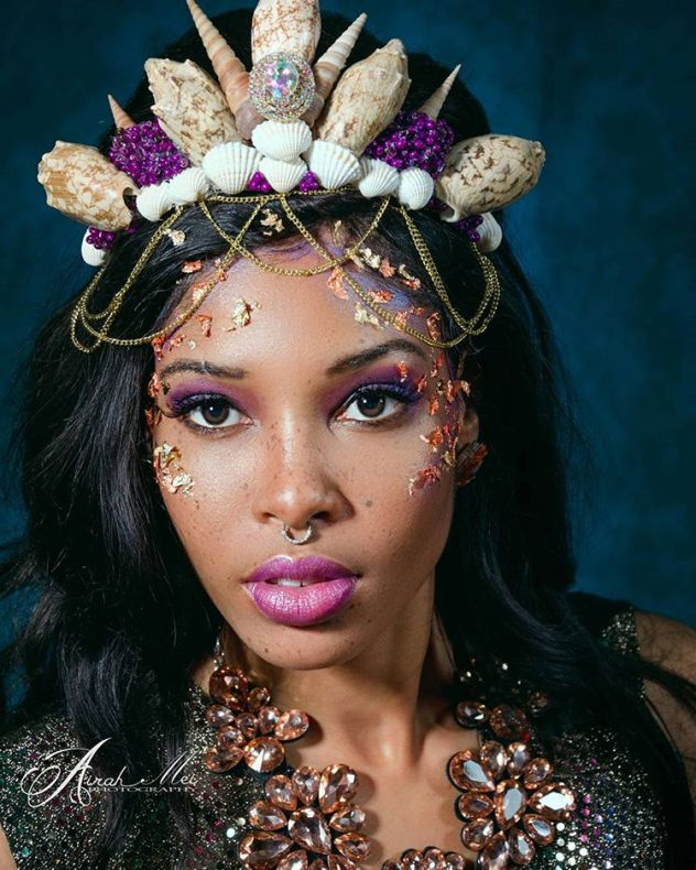 Mermaid Kiss Model: Meagan Womack MUA: Valerie VanderKolk Fashion Designer: Jasmine Cherie Shell Crown Designer: @itsjoeyjoelle Jewelry Stylist: Joey Joelle Photographer: Airah Mei Photography Creative Director: @sunrisecolorevents #scephotoshoot