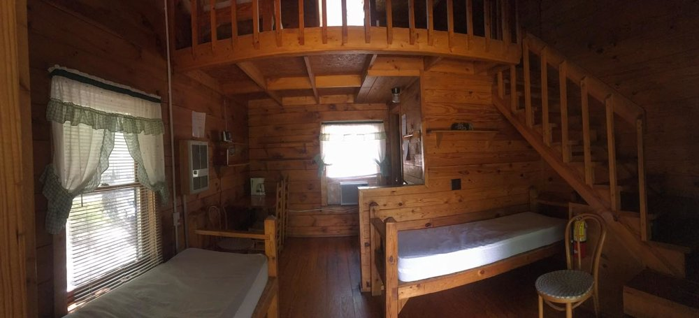 The cabins at R Ranch in the Mountains are spacious enough to fit all your camping needs.