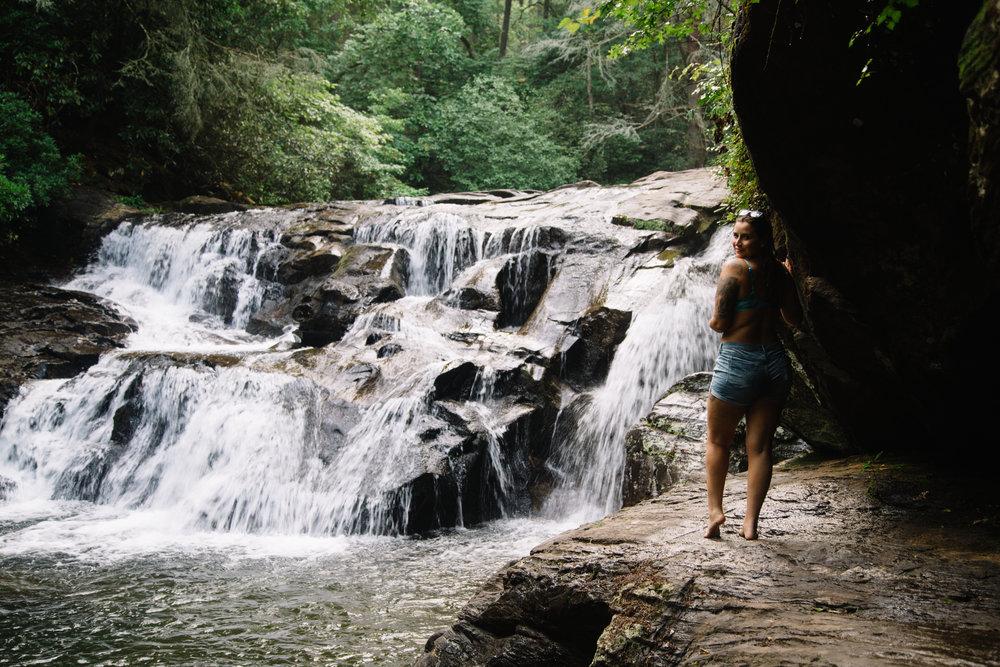 Dicks Creek Falls near R Ranch in the Mountains