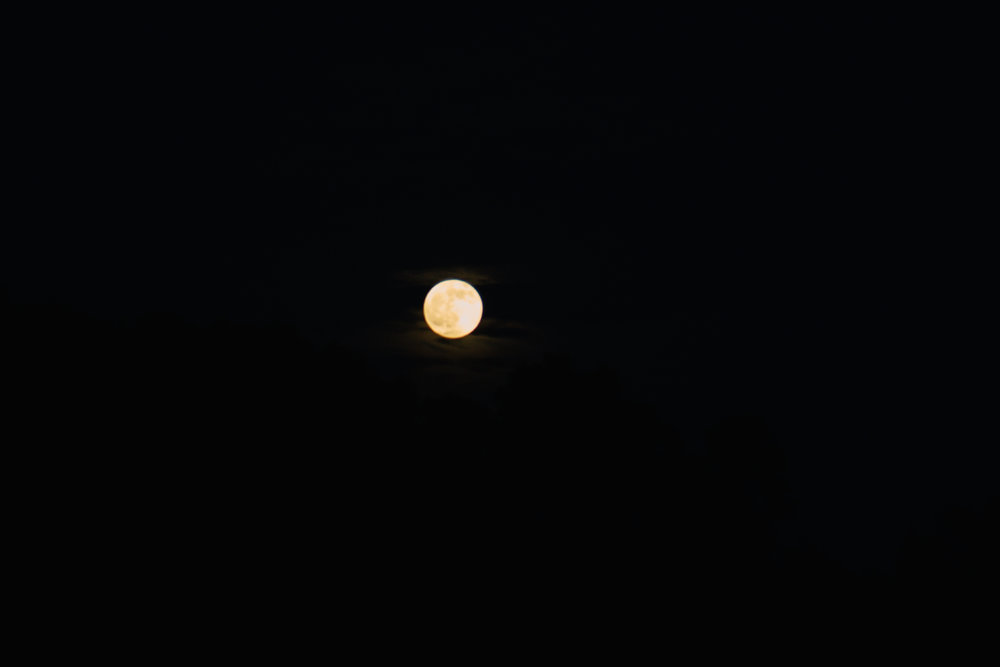 The Moon at R Ranch in the Mountains