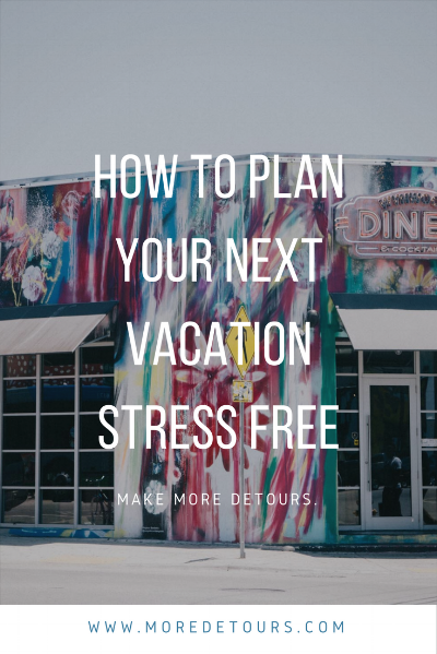 Planning a vacation isn't easy. Follow these tips to plan your next vacation stress free!