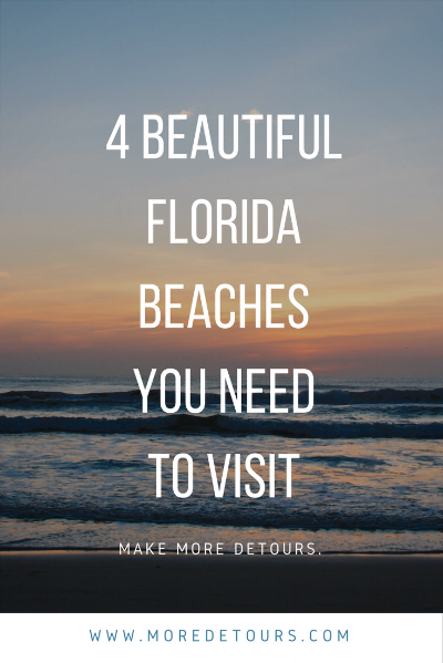 Head over to MoreDetours.com to see the 4 beautiful florida beaches you have to visit on your next vacation.