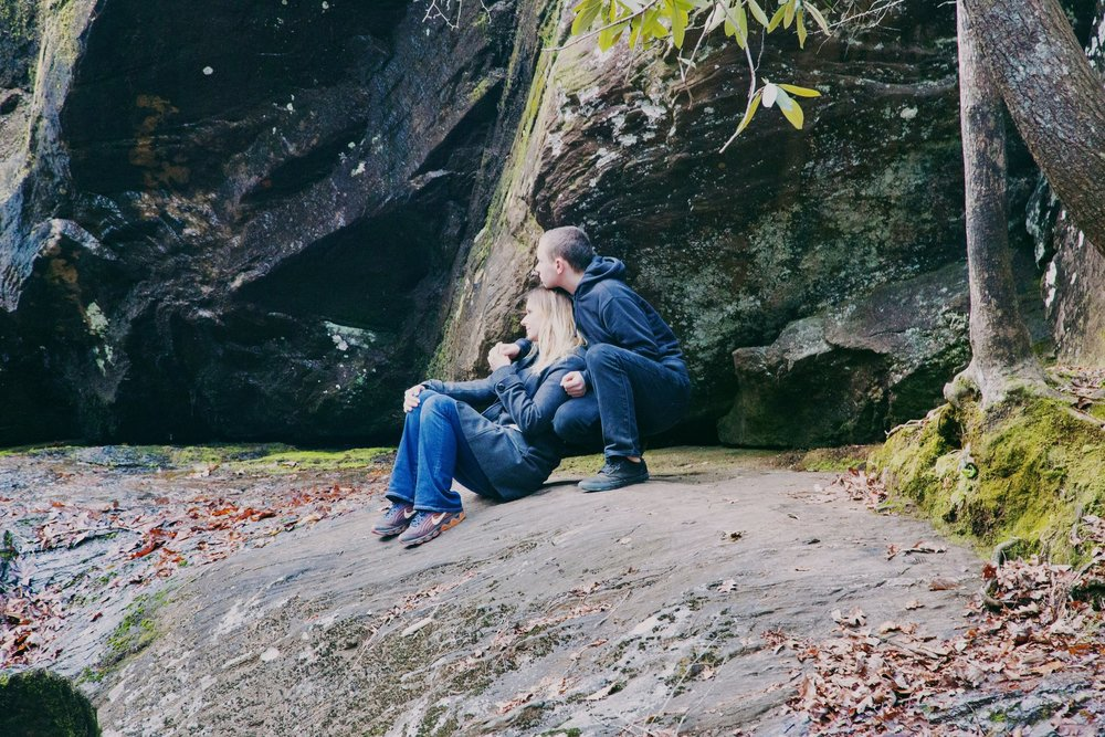 The bond between a mother and her son | Dick's Creek Falls, North Georgia