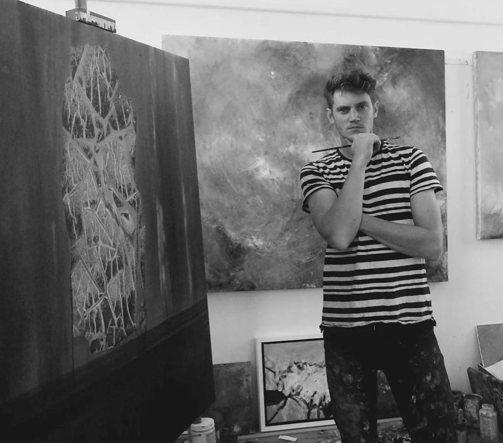 08.08.18 - LOGBOOK ENTRY 12 : TALKING MEDIUMS AND INSPIRATION WITH JACK DAVIES.  Jack Davis work is exciting and inspiring. He explores the Cornish coastline with expressive abstract painting, we caught up with him between exhibitions and tutoring at Newlyn School.