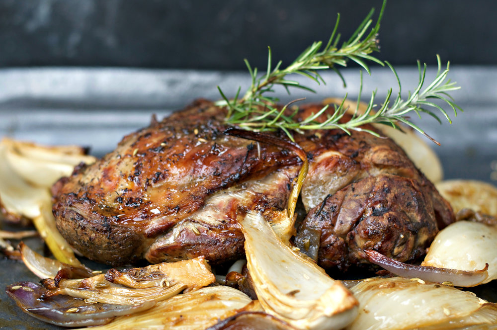 Slow Cooked Lamb with Fennel, one of the dishes on the menu!