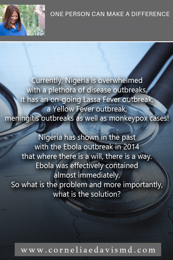 Why is Nigeria battling to control disease outbreaks like Lassa Fever? Read more:   https://menafn.com/1098153039/Why-Nigeria-is-battling-to-control-disease-outbreaks-like-Lassa-fever       Subscribe to our mailing list to receive updates from Dr. Cornelia Davis herself:  eepurl.com/cZ6kCP