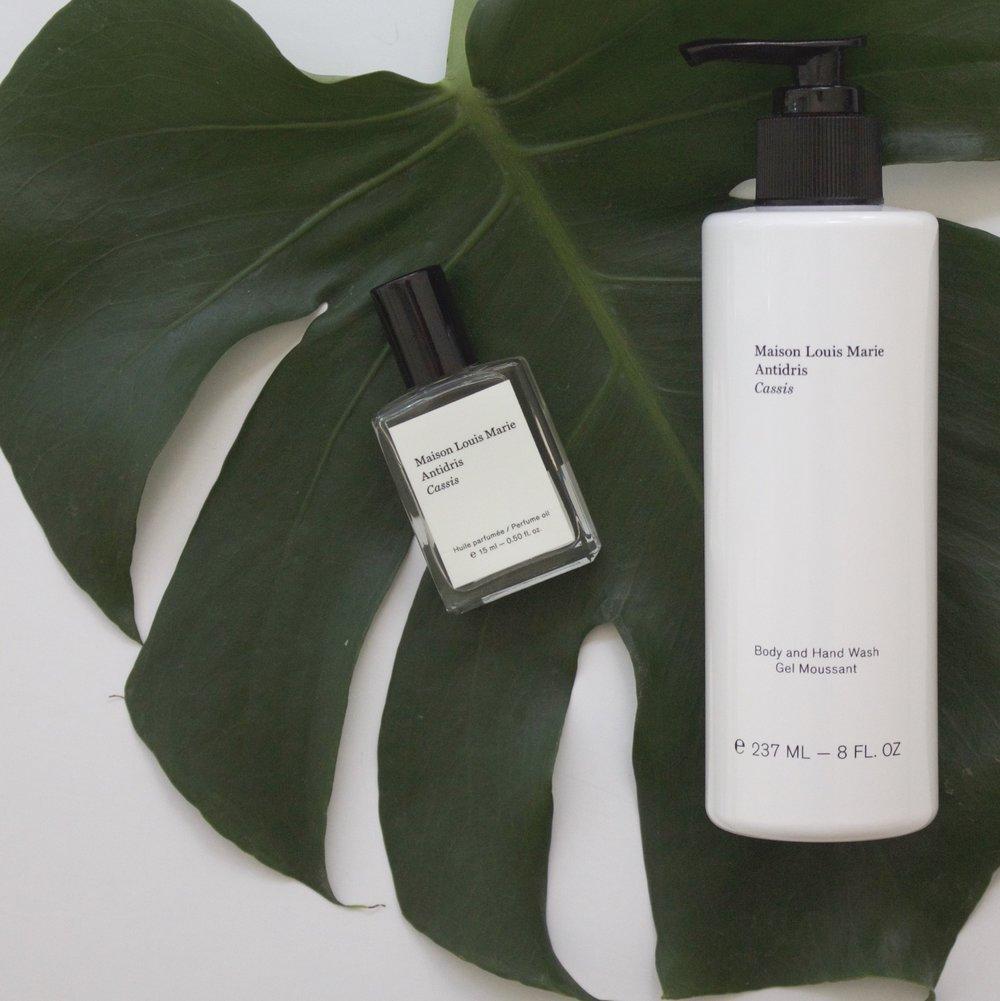 Rollerball oil perfume, Body & hand wash -